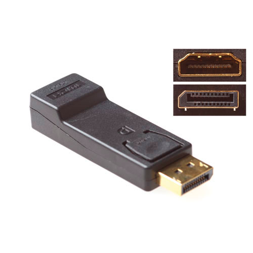 ACT verloop DisplayPort  Male - HDMI-Uitgang Zwart Adapter