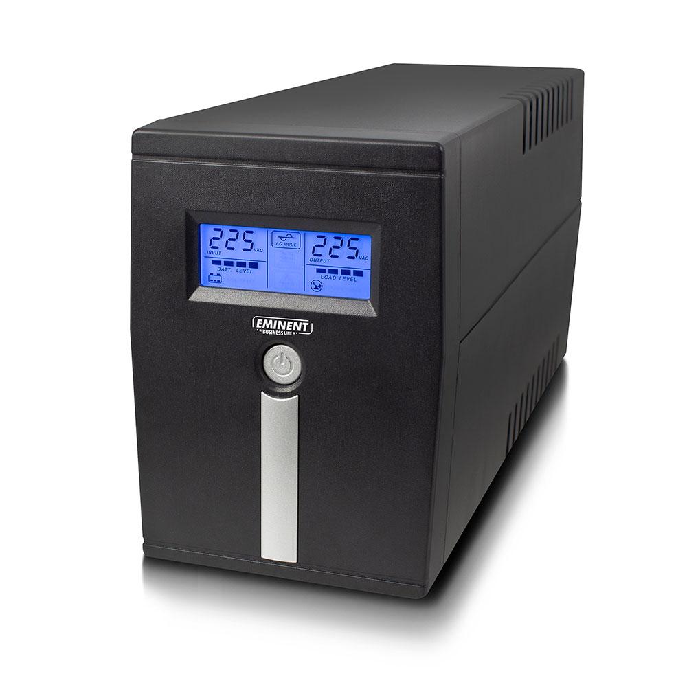 Eminent EM3940 UPS, 600 VA, 1x IEC C13, 1x type F female, 1x USB