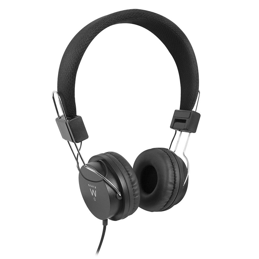 Ewent EW3573 Hoofdtelefoon, 1x 3.5mm Jack, 1,5m, met zachte oorkussens en verstelbare hoofdband