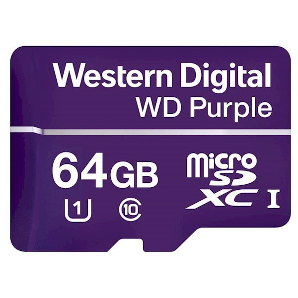WD Purple 64GB Surveillance microSD