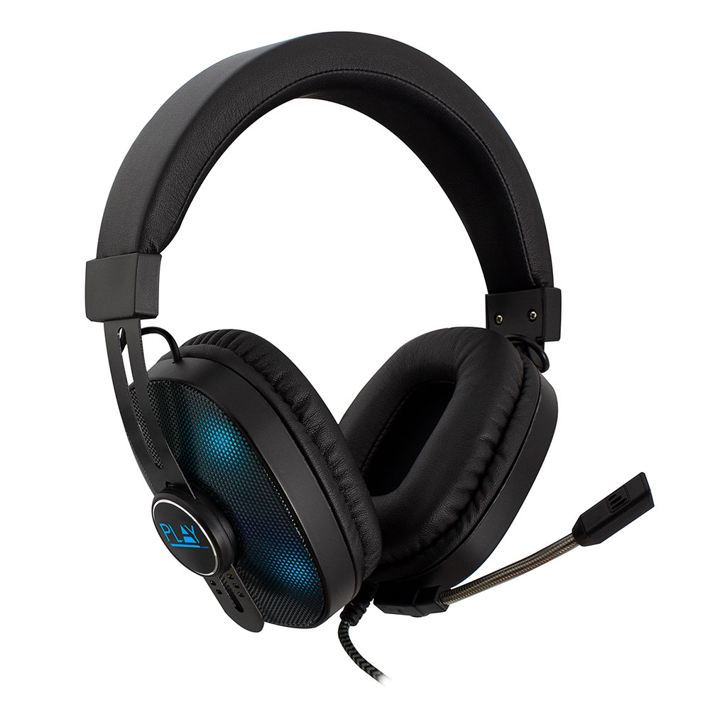 Ewent Play PL3321 Gaming headset, 2x 3,5mm jack + USB voor LED verlichting, 1,5 m - PC/PS4/XBOX One
