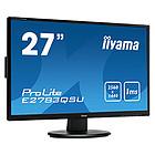 Iiyama ProLite E2783QSU 27 QHD DP HDMI DVI 3xUSB Speakers Vesa 100x100 Zwart