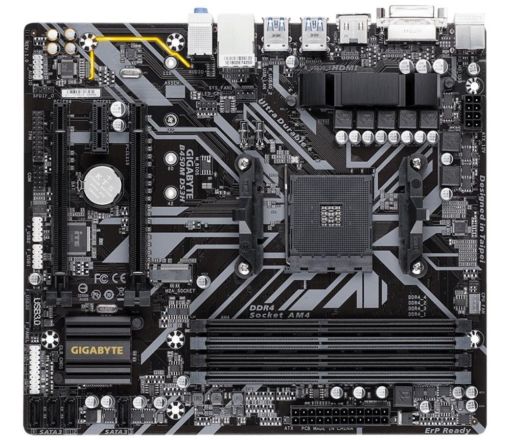 Gigabyte B450M DS3H AM4 Micro ATX AMD B450