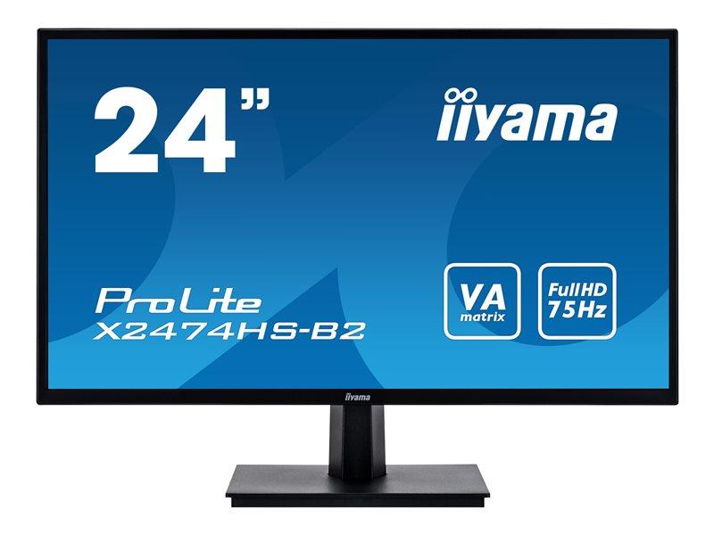 Iiyama ProLite X2474HS, 24 inch, 4ms, 1920 x 1080, HDMI, VGA, DP