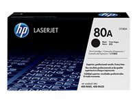 HP 80A - CF280A - toner cartridge - 1 x black - 2700 pages - for LaserJet Pro 400, 400 M401a, 400 M401d, 400 M401dn, 400 M401dne, 400 M401dw, 400 M401n