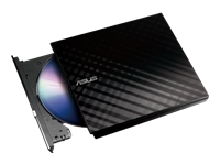 ASUS ODD DVD-RW External Slim - Retail - Zwart - SDRW-08D2S-U LITE/BLACK/ASUS - Cyberlink Power2Go 8(Burn) - USB - Black